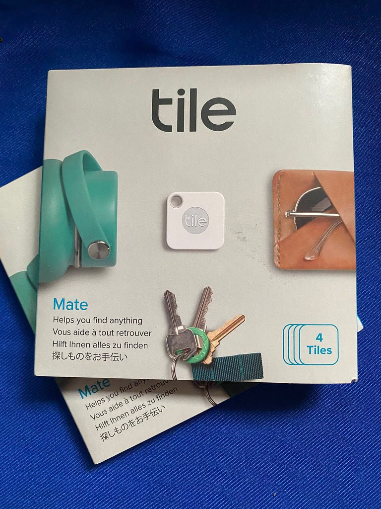 photo of two boxes of Tile trackers