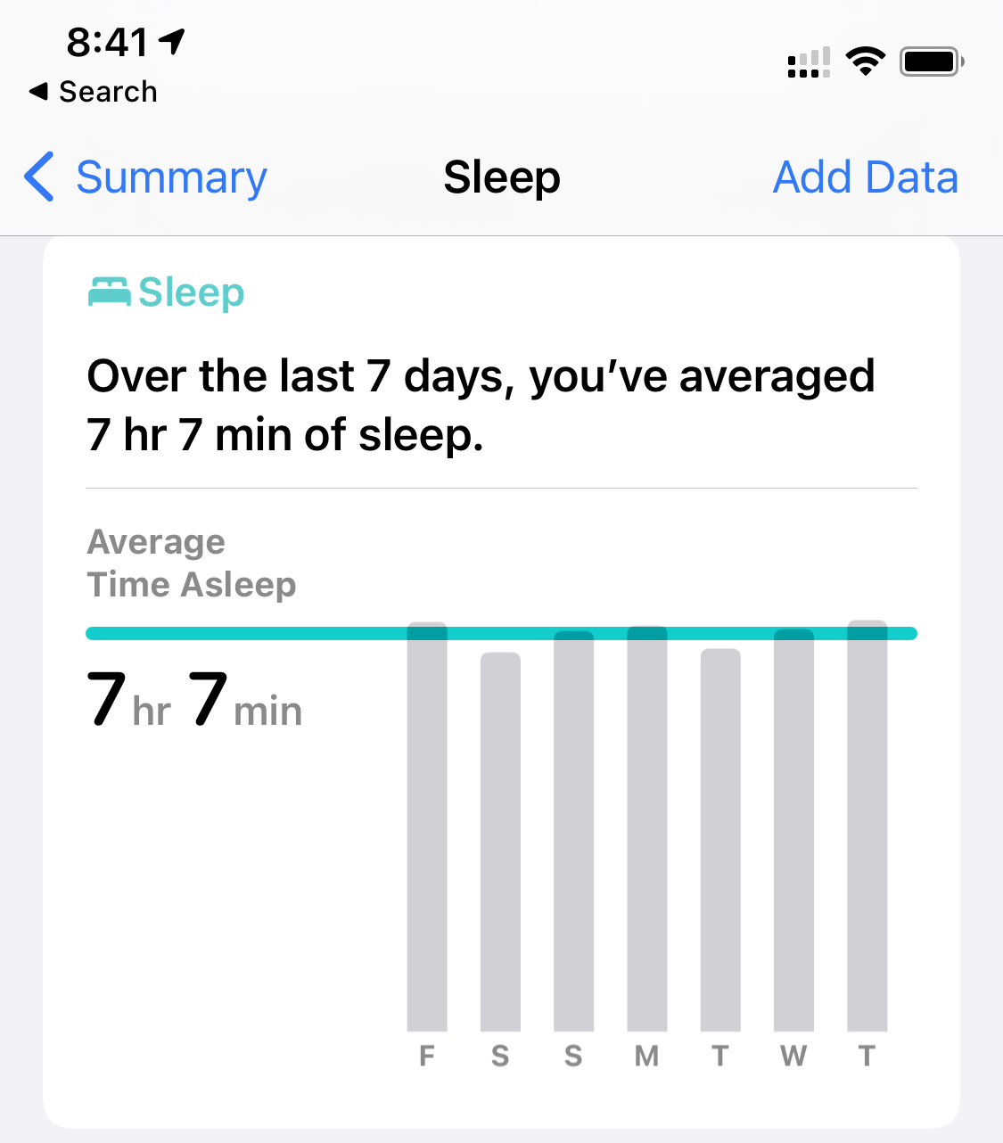 screenshot of  Watch sleep report